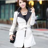 2014 Luxury British Style Women Winter Long Wool Down Thick Ladies Casual Dress Outerwear Coat/Fashion Abrigo Casacos Femininos
