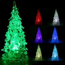 Mini RGB Colorful LED Christmas Tree Christmas Decoration Night Lights Nightlight Children Baby(China (Mainland))