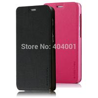 lenovo s850 case cover for 5 Original Lenovo S850 Mofi Flip PU Leather Case with stand Black orange pink Free Shipping LN