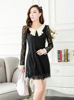2014 women summer dress Lace White Dress cheap clothes Short sleeve dress