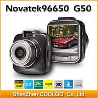 "Mini 2"" LCD Car Camera Novatek 96650 G50 DVR Recorder Full HD 1080P 170 Wide Angle 4X Zoom G-sensor Motion Detection Camcorder"