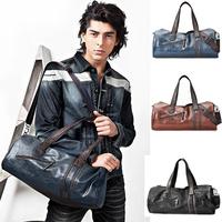 Top Sale 2014 Men's Travel Bags,Sports Bags.Soft Leather,Large Capacity Gym Bags,Cross Body Men Messenger Bags 8 Colors 2 design