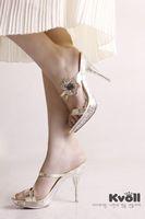 Kvoll 2014 summer princess sweet flower ultra high heels slippers thin heels platform crystal with women's shoes