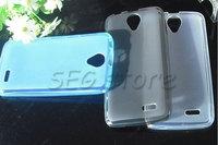 free shipping Case for Lenovo A388T Simple Pudding TPU soft back case protect Lenovo A388Tfour-color MOQ 1PCS/lot