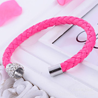 Bling jewelry braided leather cord bracelet