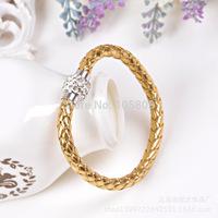 Mens leather bracelet,braided genuine leather bracelet