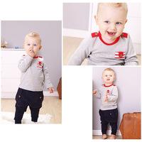 Autumn 2014 new European and American casual boy collapse pants suit piece suit children suit  clothing
