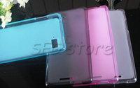 MOQ 1PCS/lot Case for Lenovo K910 Simple Pudding TPU soft back case protect  for Lenovo K910 four-color free shipping