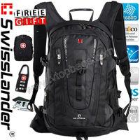 SwissLander,Swiss Lander,15.6 inch men laptop backpack,women notebook bagpack,lady school backpacks,travel bag pack w/3 freegift