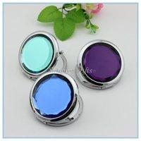 Hot!High quality crystal dress-up mirror/metal pocket mirror/makeup mirror