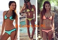 2014 Top Quality Neoprene Bikini, Fashion Women Triangle Swimwear, Sexy Swimsuit, 8 colors, XS to XL,Freeshipping