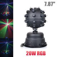 20W LED RGB Mini Magic Ball Voice Sound Stage Light DJ Rotation Party Bar Strobe