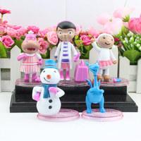 5PCS/Set Doc McStuffins Set Doc McStuffins PVC action figure toys with base High Quality Free Shipping