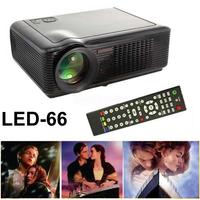 GR Stock! Black HD LED Projector Home Theater BEAMER 1080p XGA 800:1 HDMI Component VGA 2000Lumen S-Video ,VGA, AV,2*USB,TV