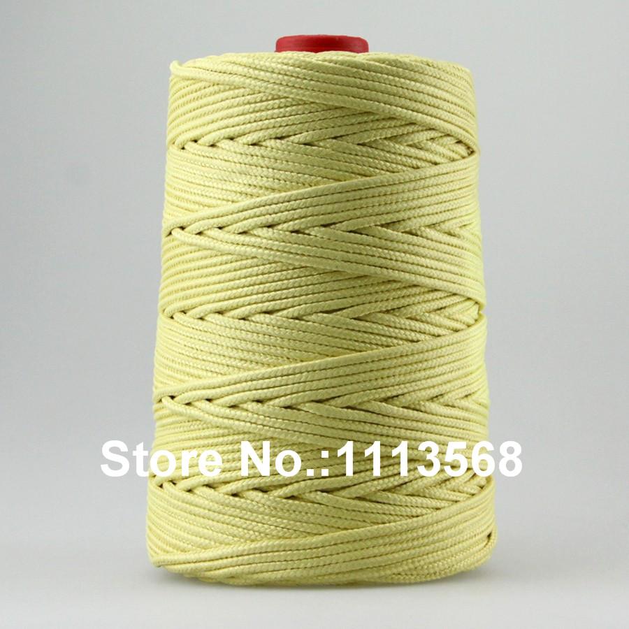 FREE SHIPPING High Quality 500ft /152m 1500LB Braided Kevlar Fiber Large Kite Line String / Strong Kevlar Line /For Fishing Kite(China (Mainland))