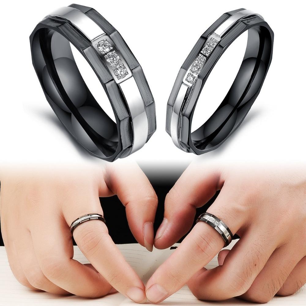 Hombres Y Mujeres Conjuntos de anillo de bodas
