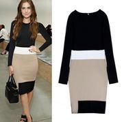 Women's dress, Slim dress, long sleeve dress
