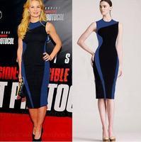 Fashion simple and elegant Slim sleeveless dress