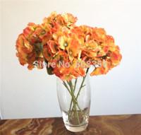 "Single Stem Hydrangea 15pcs 29cm/11.42"" Length Simulation Artificial Hydrangeas Flowers for Wedding Christmas Party Decorations"