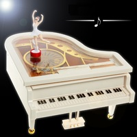 Free Shipping 1Piece Mechanical Classical Piano Music Box Dancing Ballerina Musical Toy