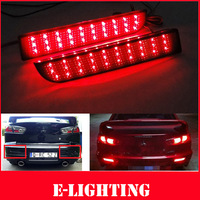 Black Smoked Lens Bumper Reflector Add-on LED Tail Fog Brake Light for Mitsubishi Lancer EVO RVR