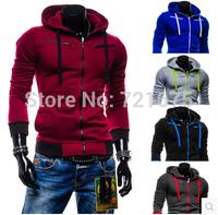 New Fashion Men's Hoodies Autumn Winter Sports Casual Men's  many colors zipper men fashion coats 5 colors