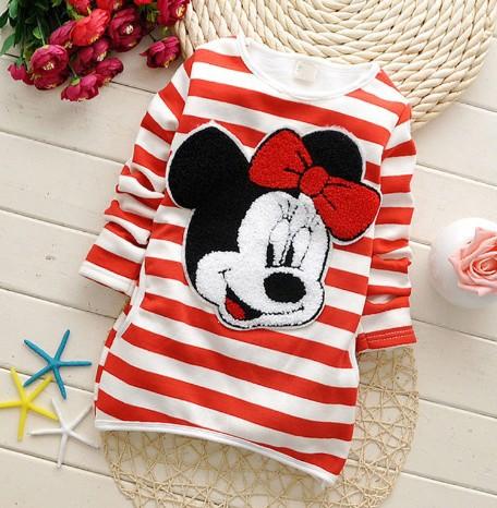 Minnie cartoon children's clothing girls do not fall down shirt 100% cotton casual shirt for girls(China (Mainland))
