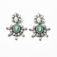 Famous Brand Austrian Pink Crystal Luxury Earrings For Women 2014 Fashion Jewelry Free Shipping
