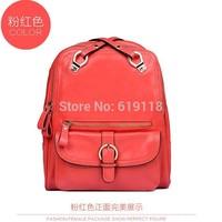 The new Korean ladies fashion wind small fresh backpack shoulder bag leather shoulder bag ladies leather