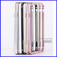 Luxury Aluminum Arc Metal Buckle Bumper Ultra Thin 4.7 inch Metal Aluminum Frame Bumper For iPhone 6 4.7'' Cases Accessories