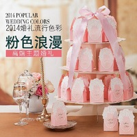 20pcs pink Wedding Bridal Favor Candy Gift Boxes Box Wedding Party Decoration  Free shipping wholesale