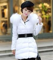 Women's parkas winter Parkas jacket fur down jacket 80% duck down plus size thicken down winter coat PA-804