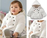 Baby Girls Clothing Coat Infant Windbreaker Kids Children Winter Snowsuit Casaco Roupa Warm White Velvet Fleece Clothes