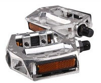 W Aluminium Pedal Super Light Multi-Color Alloy Pedals Bicycle MTB Cycling  silver