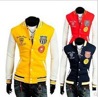 Free shipping 2014 Men Baseball Jackets spring and autumn menswear Hot sales man fashion jacket wholesale