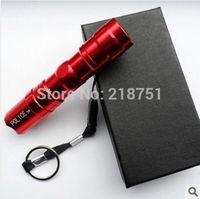 10pcs Hot Portable Mini LED flashlight torch 3W keychain Light Water Proof Light (1 * AA) -Red free shipping