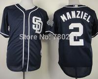 San Diego Padres #2 Johnny Manziel Cool Base Baseball Jersey Authentic  Jersey Size M L XL 2XL 3XL