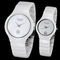 WELASIDN Brand New Fashion luxury sapphire water resistant ceramic watch girl rhinestone ultra-thin wristwatch