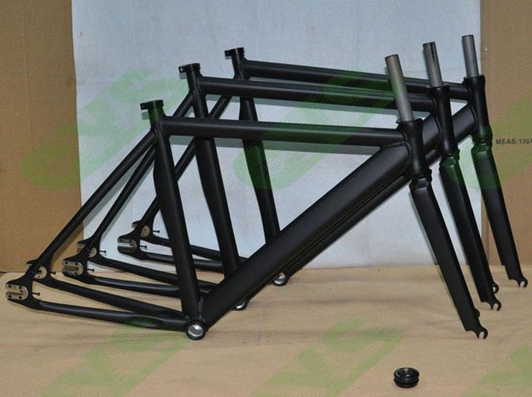 Wholesale-aluminum Alloy Road Bicycle Frame Fixie Fixed Gear Bike 52 ...