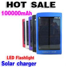 Hot sale 100000mAh Solar Power Bank Backup Battery Solar Charger 100000mAh for GPS MP3 PDA Mobile Phone free shippi(China (Mainland))