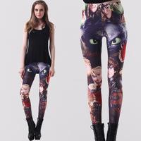 2014 New Digital Printed Women Cartoon Leggings Brand Autumn Fitness Pants for Lady