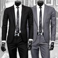 2014 New Arrival Men Suits Brand Spring Fashion Casual Slim Fit Business Dress Blazers Suits Blazer (Jacket+Pants) S-XXXL D452