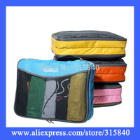 1pc New 2014 Nylon Gridding Travel Bag Women Handbags Clothes Organiser Storage Makeup Case Bedding Set -- BIB56 PA94 Wholesale