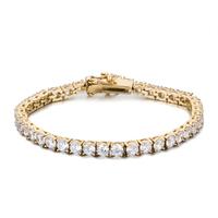 Top Quality Pretty Metalcopper Bangle Yellow Gold, Rose Gold & Silver zircon Bracelet with Rhinestone