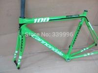 SuperSix EVO Green Color Frame+Fork+Headset+Seatpost+Clamp,carbon road light bike frame,free shipping