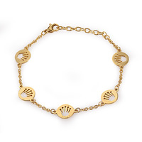 Top Quality Pretty Lady Metal Stainless Steel Bangle Yellow Gold, Rose Gold & Silver king crown Bracelet with Rhinestone
