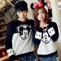 2014 Korean autumn new fashion cute cartoon Mickey printed sweatshirt, female male fashion lovers harajuku pullover sweatshirt