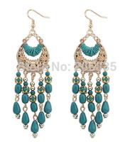 New Hot Bohemia Earrings Handmade Statement  Waterdrop Earrings Dress Earrings Tassel Moon Earrings for Woman
