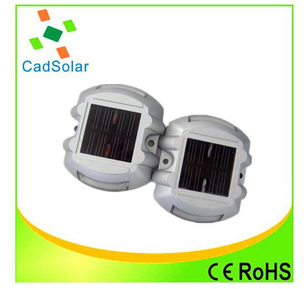 4 pcs solar road stud DHL free shipping China manufacture Ip68 waterproof Road stud of CE ROHS cerification(China (Mainland))