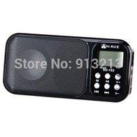 Hi-rice SD-102 High Quality Fashionable Mini-hifi Digital Media Speaker Support TF Card/USB/FM Radio
